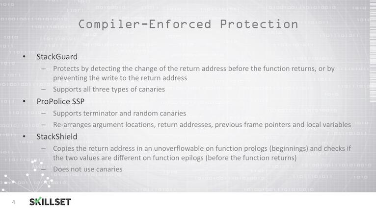 Buffer Overflow Countermeasures