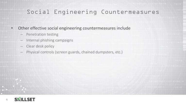 Social Engineering Countermeasures