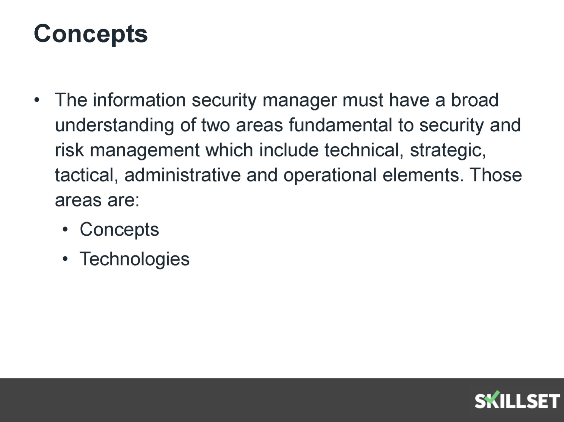 The information security manager should work in a role to cism information risk management concepts 1betcityfo Choice Image