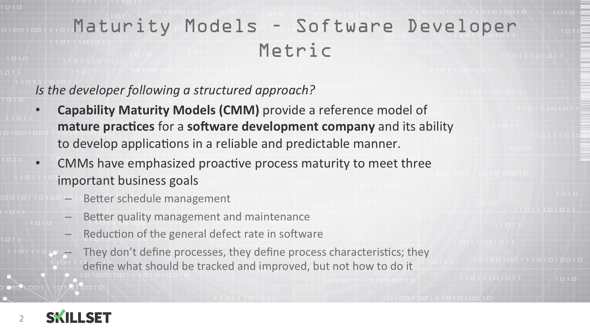 Which Level Of Capability Maturity Model Cmm Includes The