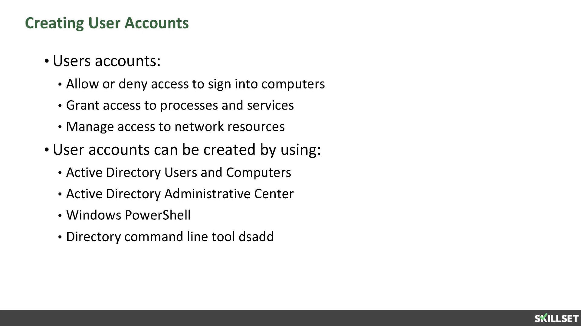 MCSA 2016-Create, copy, configure, and delete users and computers