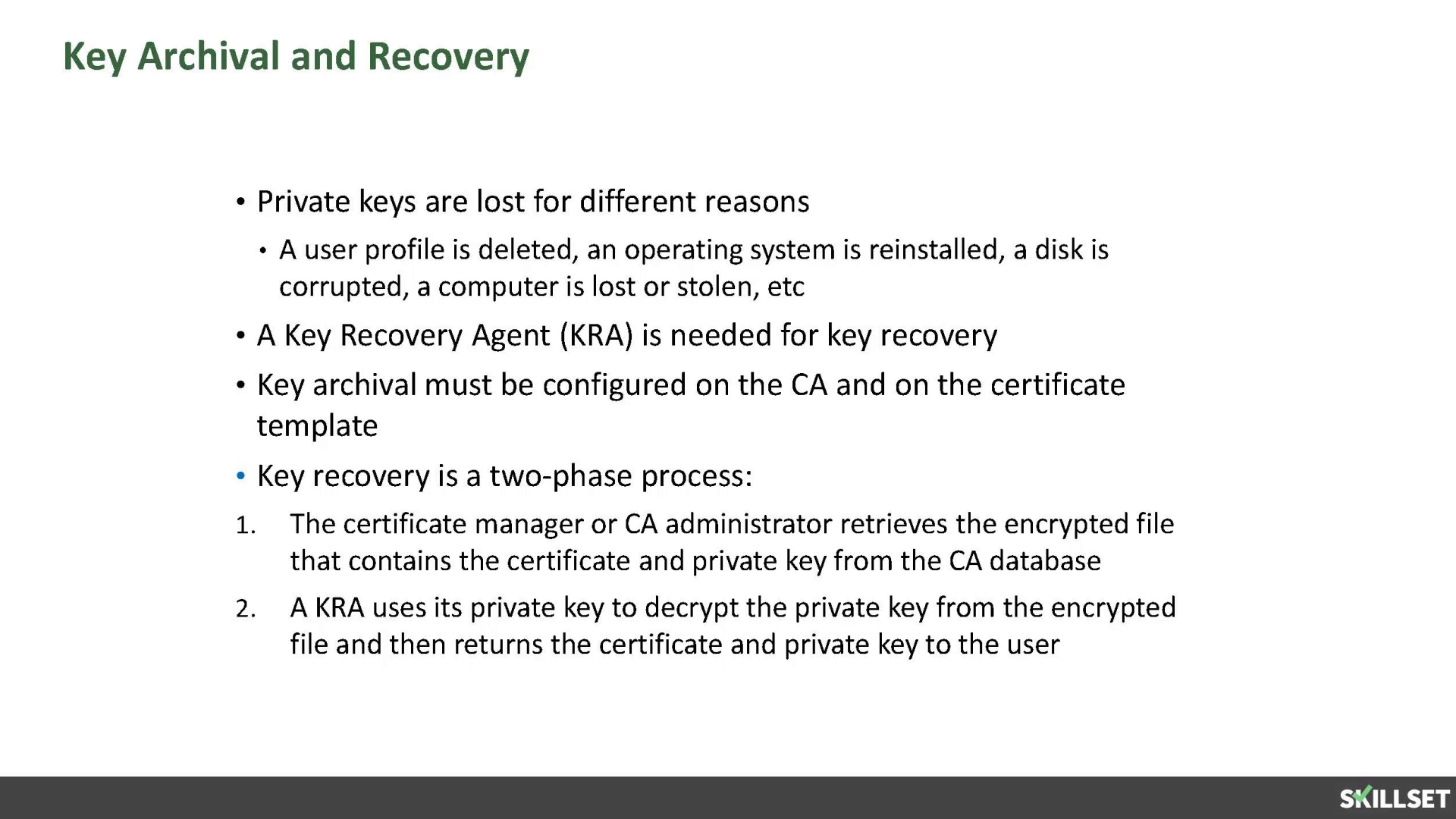 If the certificate template was configured with autoenroll mcsa 2016 key archival and recovery yelopaper Choice Image