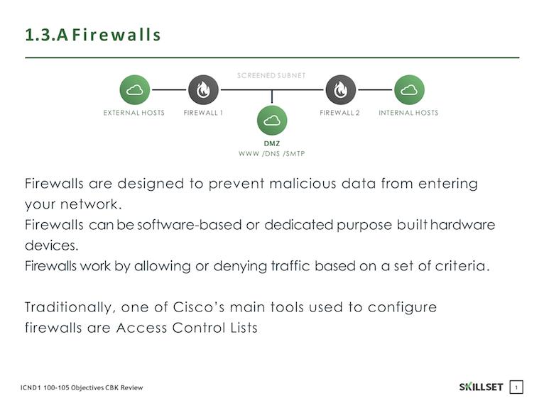 1.3.A Firewalls
