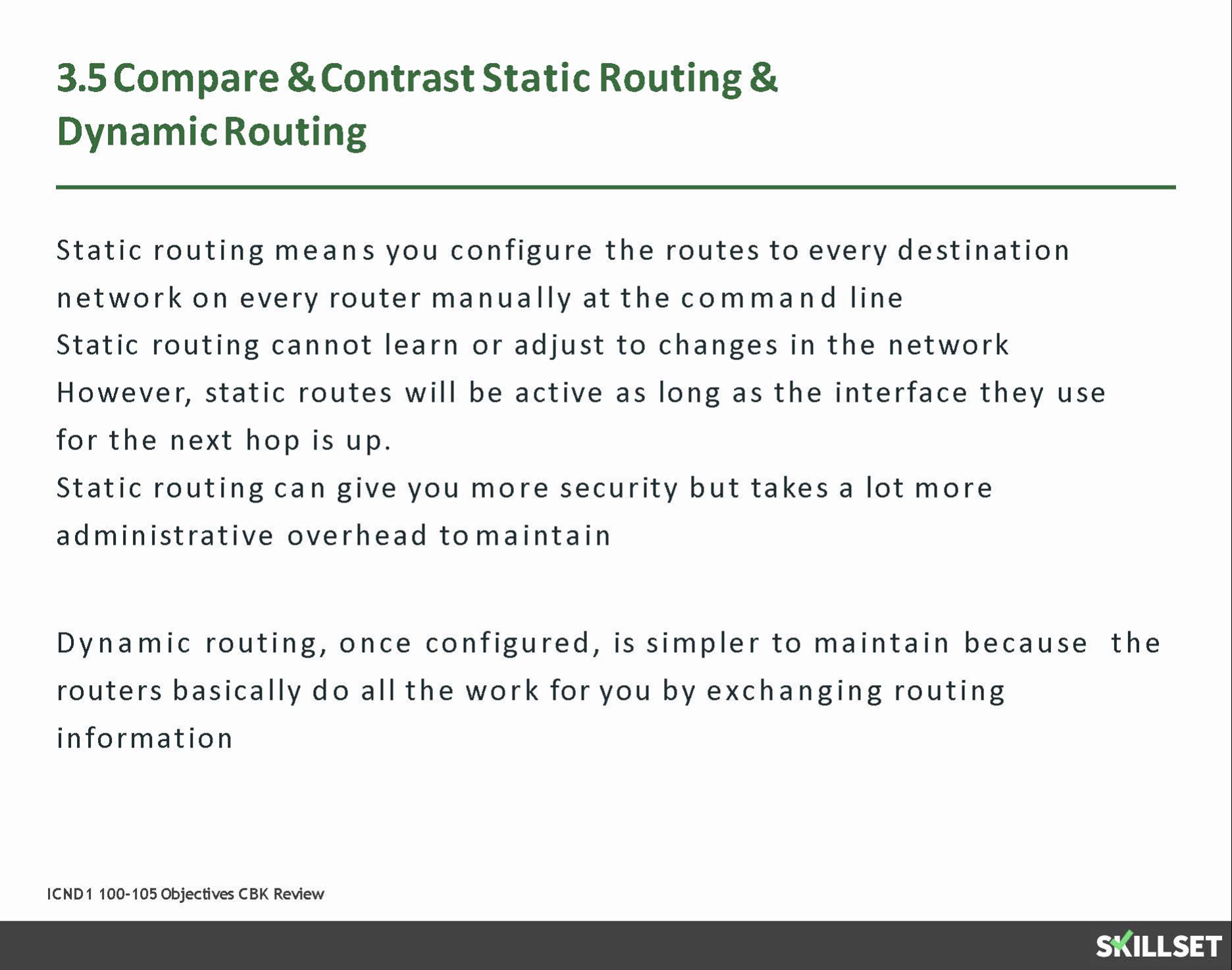 3.5-3.6 Static Routing
