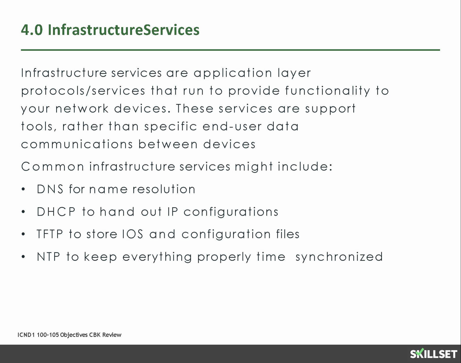 4.0 Infrastructure Services