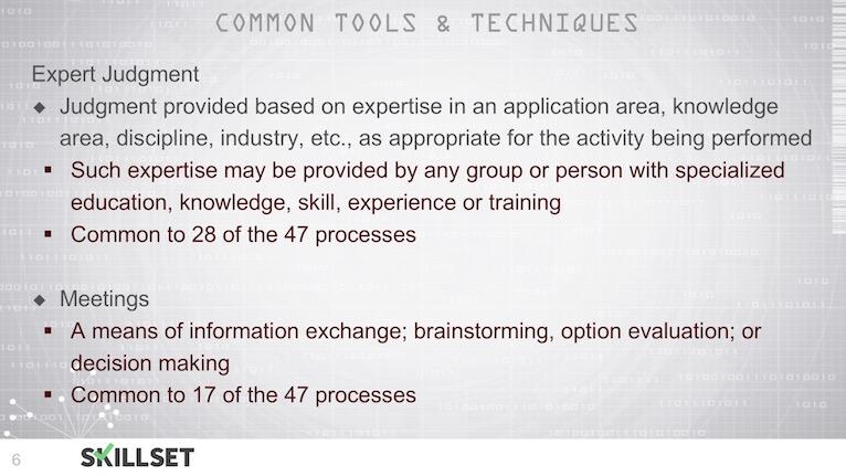 T02-Common Inputs, Tools _ Techniques