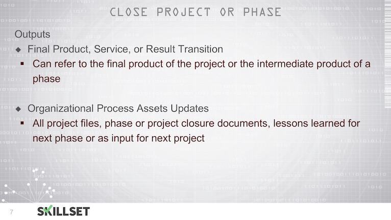 T23-Close Project or Phase ITTOs