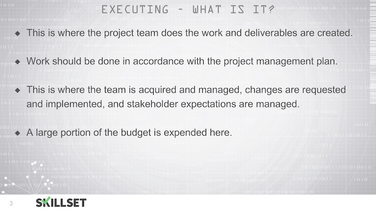 T26-Overview of the Executing Process Group