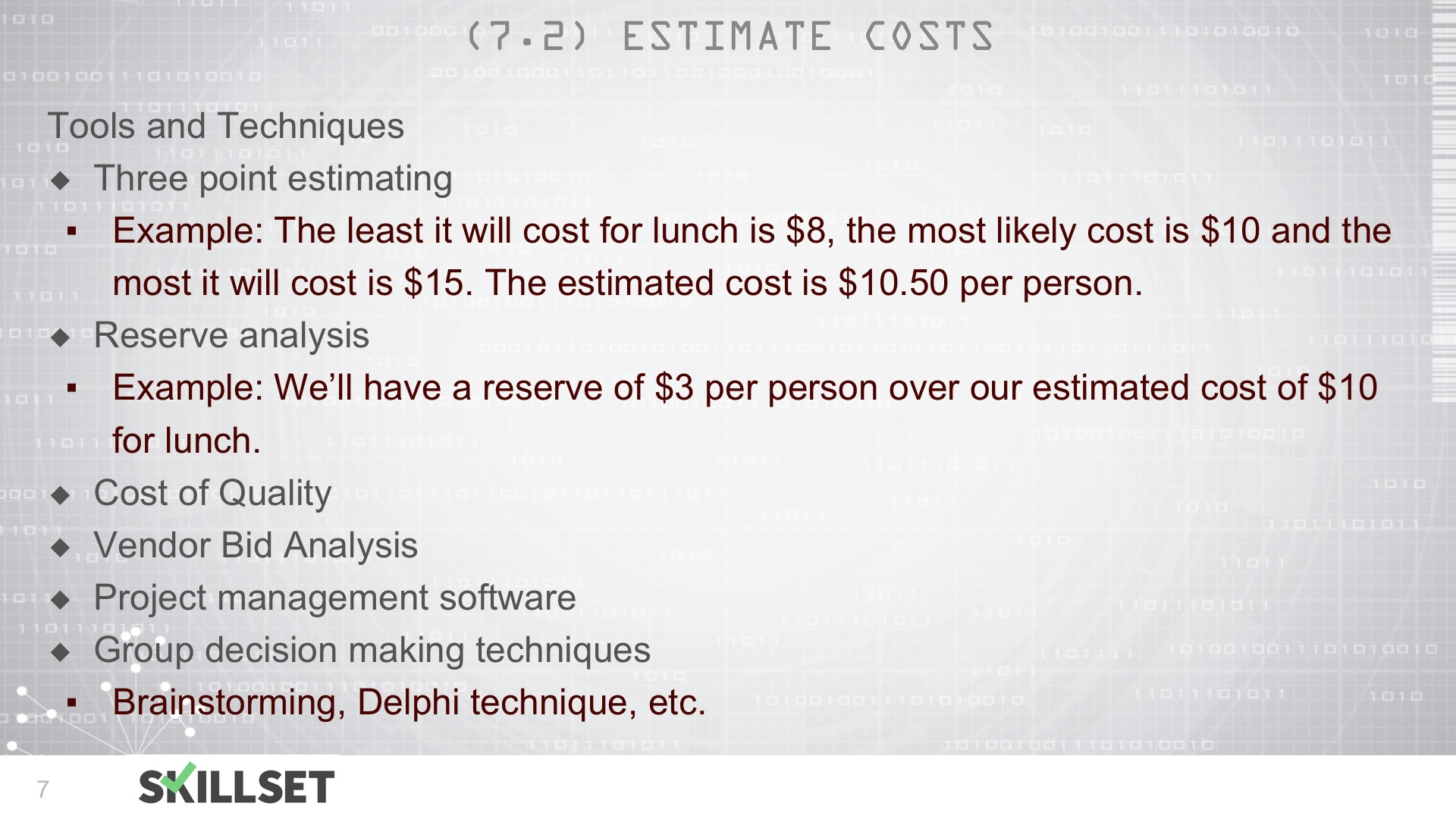 T53-Estimate Cost ITTOs and ROM