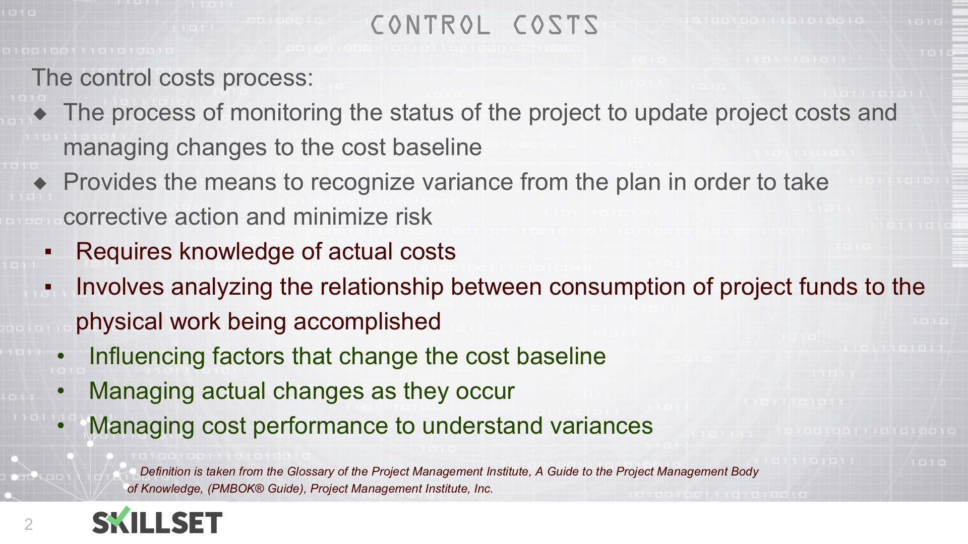 T55-Overview of Controlling Cost
