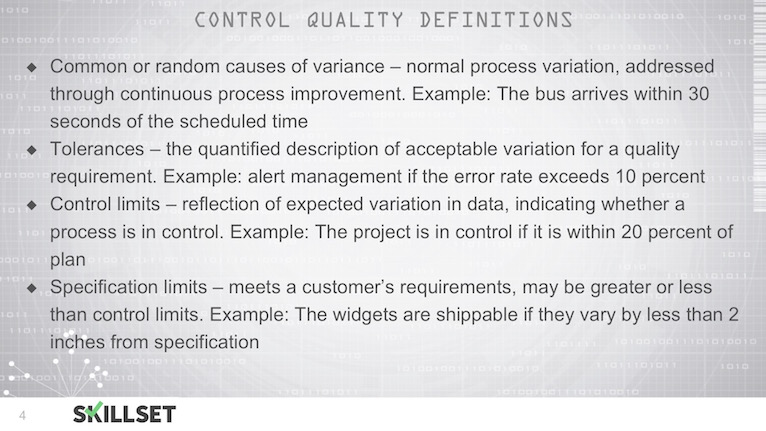 T68-Contol Quality Processes and Definitions