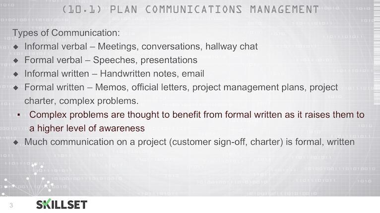T78-Plan Communications Management Inputs