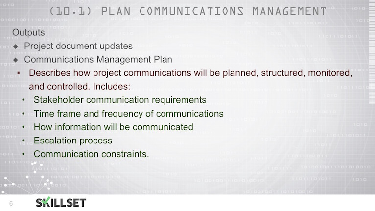 T79-Planning Communications Management Tools, Techniques and Outputs