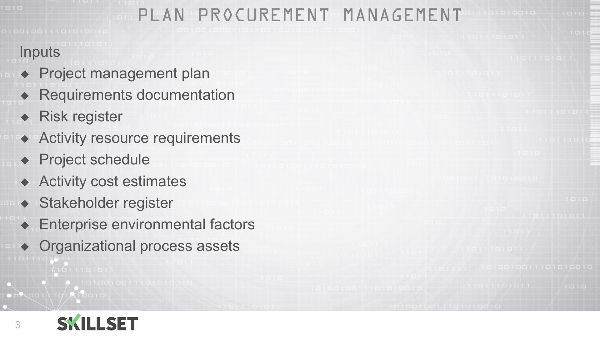 T94-Controlling Procurements Inputs, Tools and Techniques